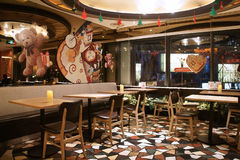 Azjata Chiny, Pekin, Taikoo Li Sanlitun, zachodni restauracyjny Wagas Zdjęcie Royalty Free