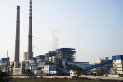 Azjata Chiny, Pekin, termiczna elektrownia, roślina, wyposażenie, budynek struktura Obrazy Stock