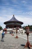 Azjata Chiny, Pekin, Tiantan park cesarska krypta niebo, dziejowi budynki Fotografia Stock