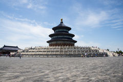 Azjata Chiny, Pekin, Tiantan park sala modlitw żniwa na dobre Zdjęcia Stock