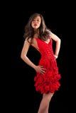 azjata crochet sukni czerwieni kobieta Obraz Royalty Free