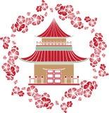 Azjata dom royalty ilustracja
