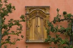 azjata drewniany stylowy nadokienny Fotografia Stock