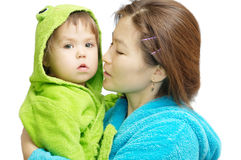 Azjata dziecko i zdjęcie royalty free