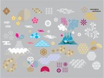 Azjata elements3 ilustracji