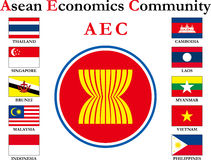 Azjata flaga ilustracji