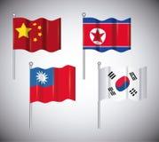 Azjata flaga projekt royalty ilustracja