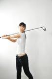 azjata klubów kobiety golfa chlanie Zdjęcia Royalty Free