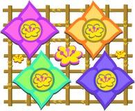 azjata kwiatów siatki mieszanka royalty ilustracja