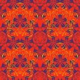 Azjata, kwiat jak bezszwowy wzór royalty ilustracja