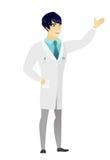 Azjata lekarka pokazuje kierunek ilustracja wektor