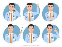 Azjata lekarka z stetoskopem royalty ilustracja