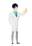 Azjata lekarki seansu przerwy ręki gest ilustracja wektor