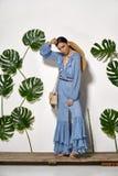 Azjata model w studiu Fotografia Stock