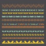 Azjata ornamentuje kolekcję Historycznie ornamentacyjny koczowniczy ludzie ilustracja wektor
