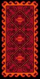 Azjata ornamentuje kolekcję Historycznie ornamentacyjny koczowniczy ludzie Ja opierał się na kazach dywanach odczuwany i wełna Obrazy Royalty Free