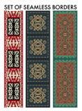 Azjata ornamentuje kolekcję Historycznie ornamentacyjny koczowniczy ludzie Obraz Stock