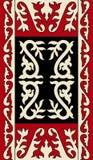 Azjata ornamentuje kolekcję Historycznie ornamentacyjny koczowniczy ludzie Fotografia Stock