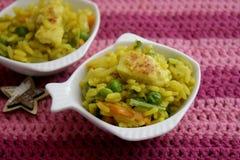 Azjata smażący ryż z warzywami Zdjęcie Royalty Free