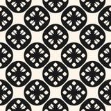 Azjata stylowy wektorowy geometryczny bezszwowy wzór z okręgami, kwiaty ilustracji