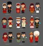 Azjata w obywatel sukni ilustracja wektor
