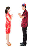 Azjatyccy chińczycy powitanie Zdjęcia Stock
