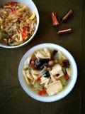 Azjatyccy domowego kucharstwa kuchni naczynia Obraz Stock