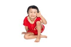 Azjatyccy dzieci są szczęśliwym nowym rokiem Zdjęcie Royalty Free