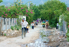 Azjatyccy dzieci, Wietnamski wieś uczeń Zdjęcie Royalty Free