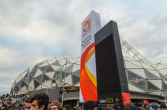 Azjatyccy filiżanek fan piłki nożnej Zdjęcia Stock