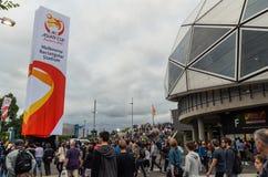 Azjatyccy filiżanek fan piłki nożnej Zdjęcia Royalty Free