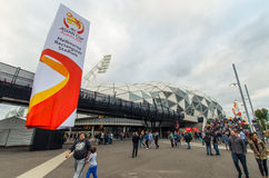 Azjatyccy filiżanek fan piłki nożnej Obraz Stock