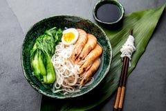 Azjatyccy ryżowi kluski z srimps Choi i pok obraz royalty free