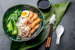 Azjatyccy ryżowi kluski z srimps Choi i pok obrazy royalty free