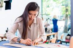 Azjatyccy szkice ciący projektant mody kobiety wzór Zdjęcie Stock