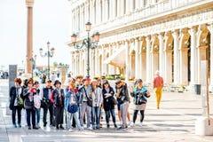 Azjatyccy turyści w Wenecja obraz stock
