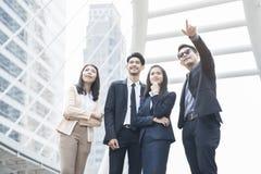 Azjatycka biznes drużyna plenerowa Fotografia Stock