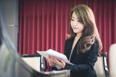 Azjatycka biznesowa dziewczyna Zdjęcia Royalty Free