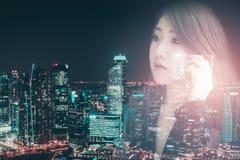 Azjatycka biznesowa dziewczyna Obraz Royalty Free