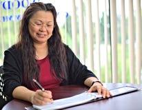 Azjatycka Biznesowa Kobieta Fotografia Royalty Free