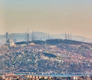Azjatycka część Istanbuł Uskudar brzeg widok z lotu ptaka Fotografia Stock