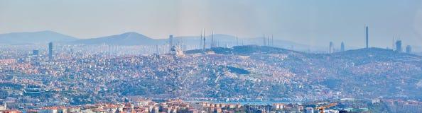 Azjatycka część Istanbuł Uskudar brzeg widok z lotu ptaka Zdjęcie Stock