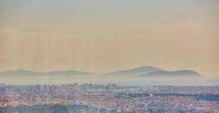 Azjatycka część Istanbuł Uskudar brzeg widok z lotu ptaka Fotografia Royalty Free