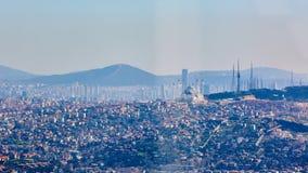 Azjatycka część Istanbuł Uskudar brzeg widok z lotu ptaka Zdjęcie Royalty Free
