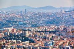 Azjatycka część Istanbuł Uskudar brzeg widok z lotu ptaka Obraz Royalty Free