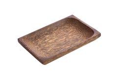 Azjatycka drewniana taca zdjęcie stock