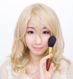 Azjatycka dziewczyna uzupełniał modę odizolowywającą Obrazy Stock