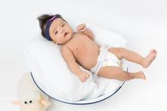 Azjatycka dziewczynka nowonarodzona Zdjęcia Royalty Free