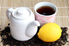 Azjatycka herbata i cytryna Obrazy Royalty Free