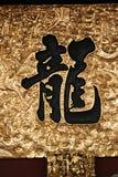 Azjatycka kaligrafia - smok Fotografia Royalty Free